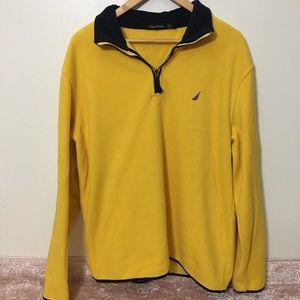 Nautica lite weight pull over fleece